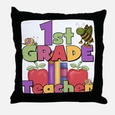 1st Grade Teacher Throw Pillow