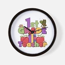 1st Grade Teacher Wall Clock