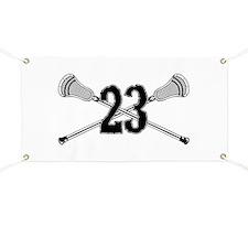 Lacrosse Number 23 Banner
