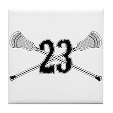 Lacrosse Number 23 Tile Coaster