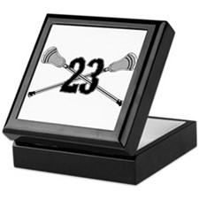 Lacrosse Number 23 Keepsake Box