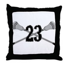 Lacrosse Number 23 Throw Pillow