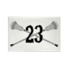 Lacrosse Number 23 Rectangle Magnet