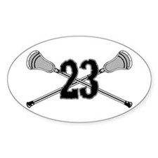 Lacrosse Number 23 Oval Decal