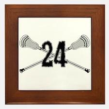Lacrosse Number 24 Framed Tile
