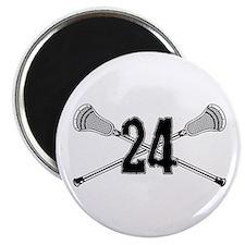 Lacrosse Number 24 Magnet