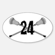 Lacrosse Number 24 Oval Decal