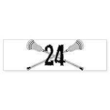 Lacrosse Number 24 Bumper Bumper Sticker