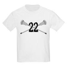 Lacrosse Number 22 T-Shirt