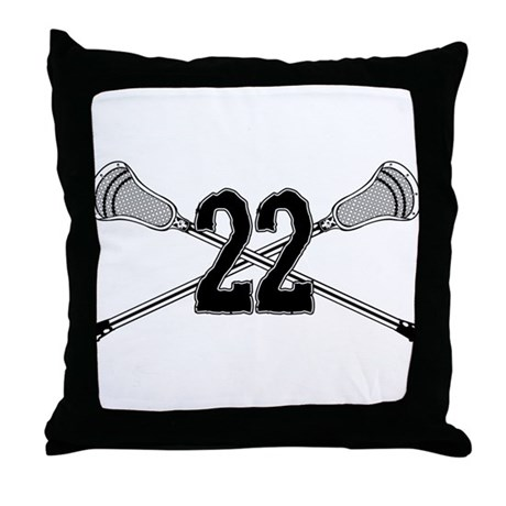 Lacrosse Number 22 Throw Pillow