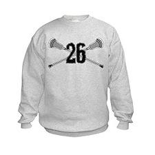 Lacrosse Number 26 Sweatshirt