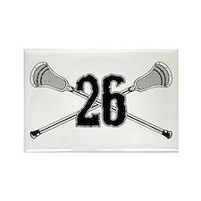 Lacrosse Number 26 Rectangle Magnet