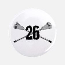 """Lacrosse Number 26 3.5"""" Button"""