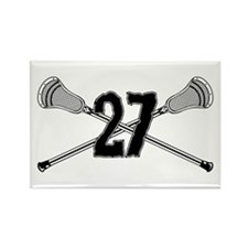Lacrosse Number 27 Rectangle Magnet