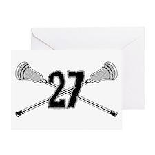 Lacrosse Number 27 Greeting Card