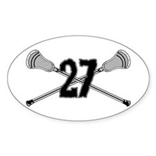 Lacrosse Number 27 Oval Decal