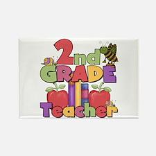 2nd Grade Teacher Rectangle Magnet