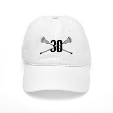Lacrosse Number 30 Baseball Cap