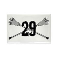 Lacrosse Number 29 Rectangle Magnet