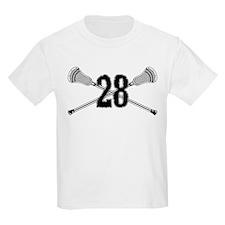 Lacrosse Number 28 T-Shirt