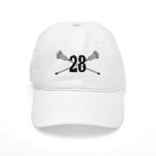 Lacrosse Number 28 Baseball Cap