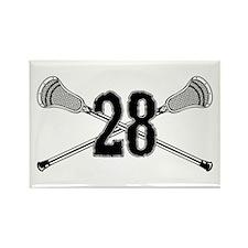 Lacrosse Number 28 Rectangle Magnet