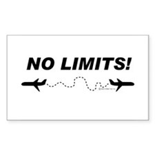 NO LIMITS! Rectangle Decal