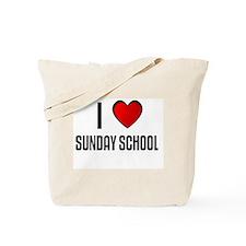 I LOVE SUNDAY SCHOOL Tote Bag