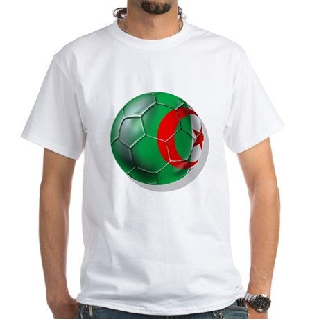 Algerian flag soccer ball White T-Shirt