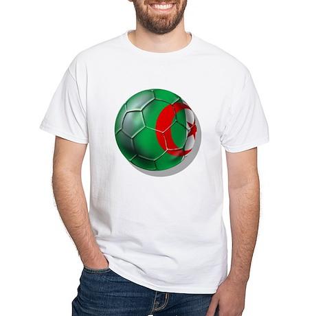 Algerian Soccer White T-Shirt