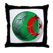Algerian flag soccer ball Throw Pillow