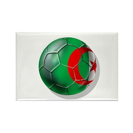 Algerian flag soccer ball Rectangle Magnet