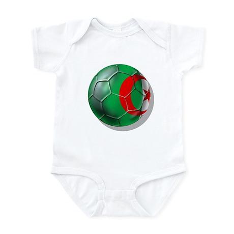 Algerian flag soccer ball Infant Bodysuit