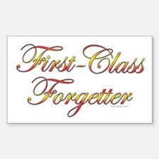 First-Class Forgetter Rectangle Decal