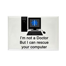 I can rescue your computer Rectangle Magnet