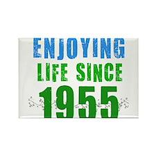 Enjoying Life Since 1955 Rectangle Magnet