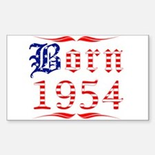 Born All American 1954 Rectangle Decal
