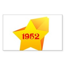 Heart of Star 1952 Rectangle Decal