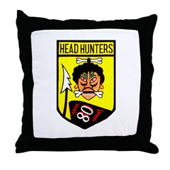 80th Fighter Squadron Throw Pillow