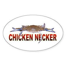 Chicken Necker Oval Decal