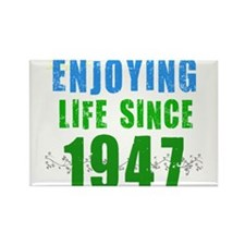 Enjoying Life Since 1947 Rectangle Magnet