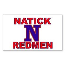 Natick Redmen Rectangle Decal
