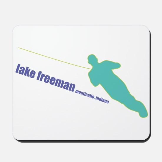 a water ski summer Mousepad