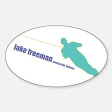 a water ski summer Oval Decal