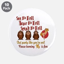 "Party Girl 95th 3.5"" Button (10 pack)"