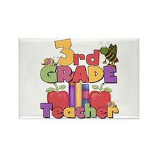 3rd Grade Teacher Rectangle Magnet