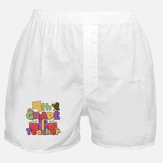4th Grade Teacher Boxer Shorts