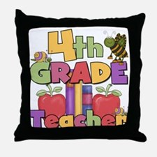 4th Grade Teacher Throw Pillow