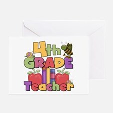 4th Grade Teacher Greeting Cards (Pk of 10)
