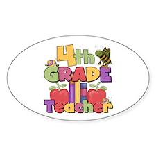 4th Grade Teacher Oval Bumper Stickers